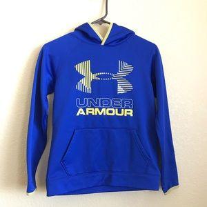 Boys Blue Under Armour Hoodie Sweat Shirt